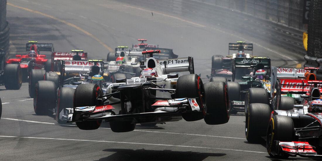 Kobayashi Crash GP Monaco 2012