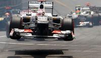 Kobayashi GP Monaco F1 Crashs 2012