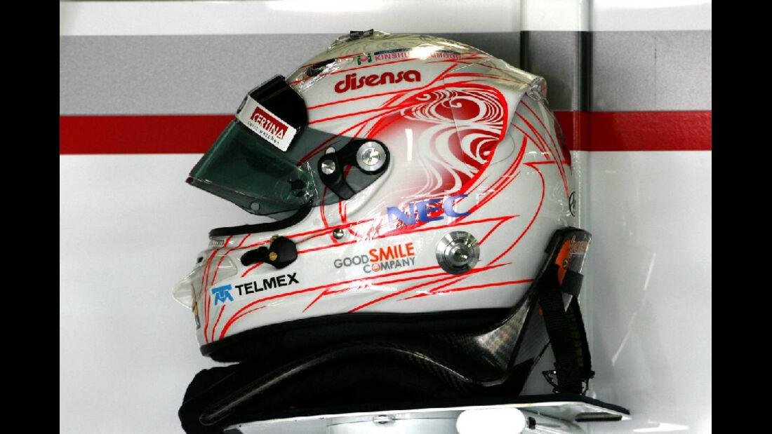 Kobayashi Helm  - Formel 1 - GP Japan - 07. Oktober 2011