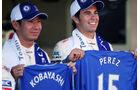 Kobayashi & Perez F1 Fun Pics 2012