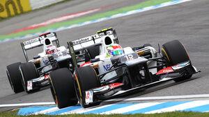 Kobayashi Perez Sauber GP Deutschland 2012