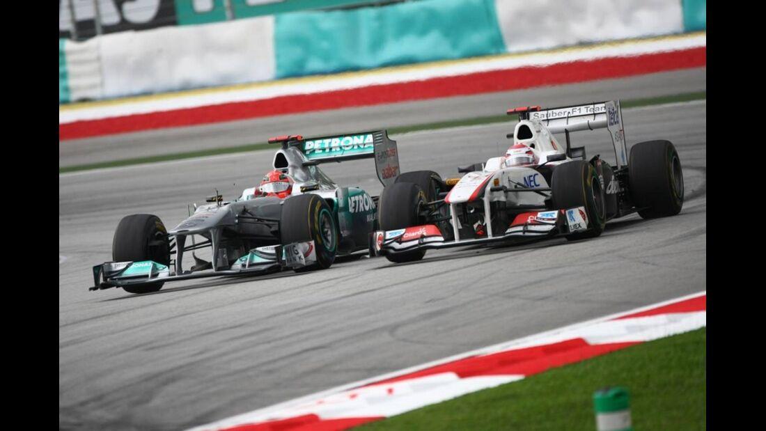 Kobayashi Schumacher GP Malaysia 2011 Formel 1