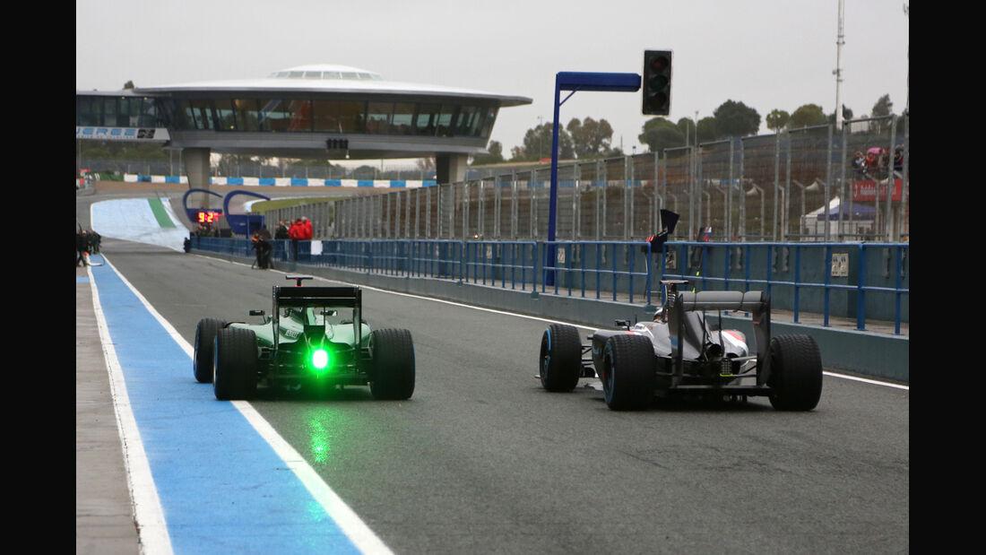 Kobayashi & Sutil - Formel 1 - Jerez - Test - 31. Januar 2014