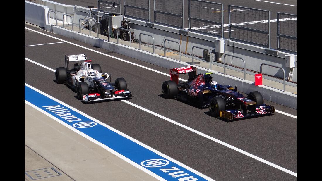 Kobayashi & Vergne - Formel 1 - GP Japan - Suzuka - 5. Oktober 2012