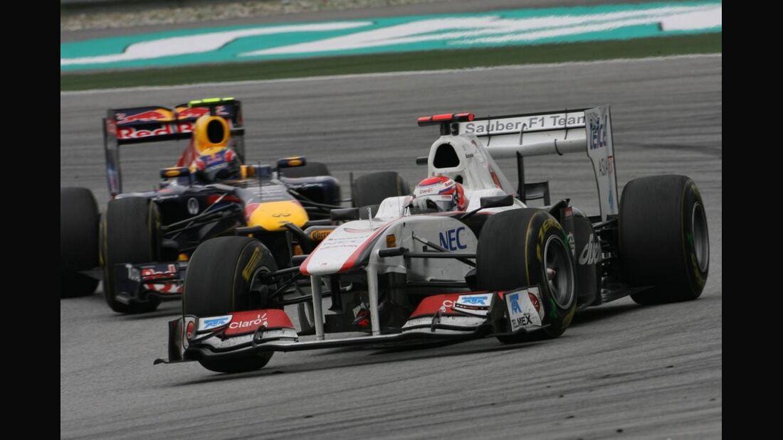 Kobayashi Webber GP Malaysia 2011 Formel 1