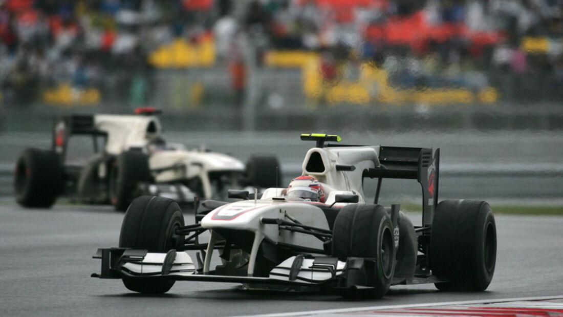 Kobayashi und Heidfeld beim GP Korea