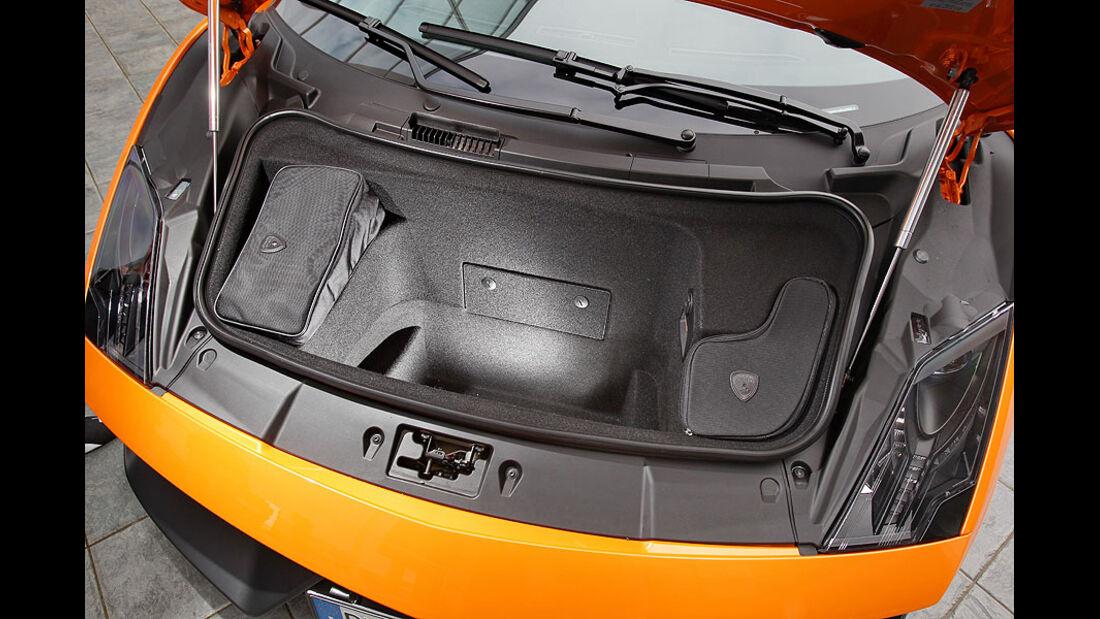 Kofferraum des Lamborghini Gallardo LP 570-4 Superleggera