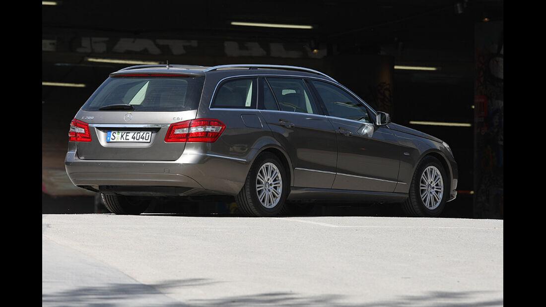 Kofferraumvolumen Test, Mercedes  E T-Modell, Heck