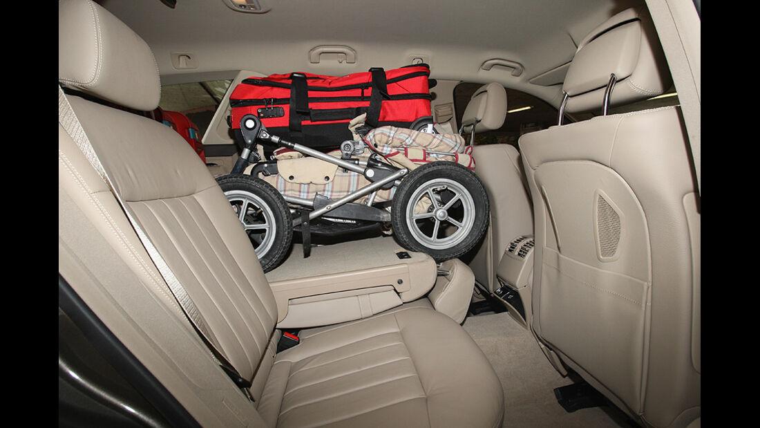 Kofferraumvolumen Test, Mercedes  E T-Modell, Rückbank