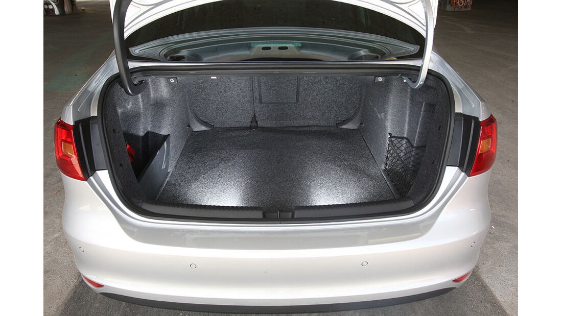 Kofferraumvolumen Test, VW Jetta, Heck, Kofferraum