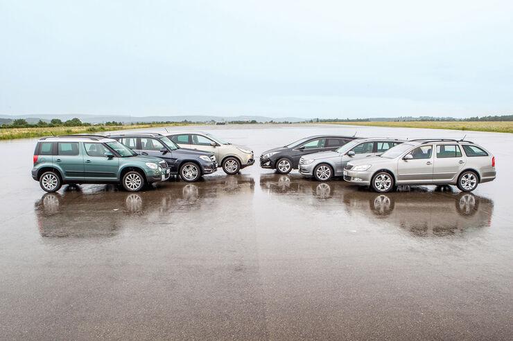 Kombi gegen SUV, Seitenansicht