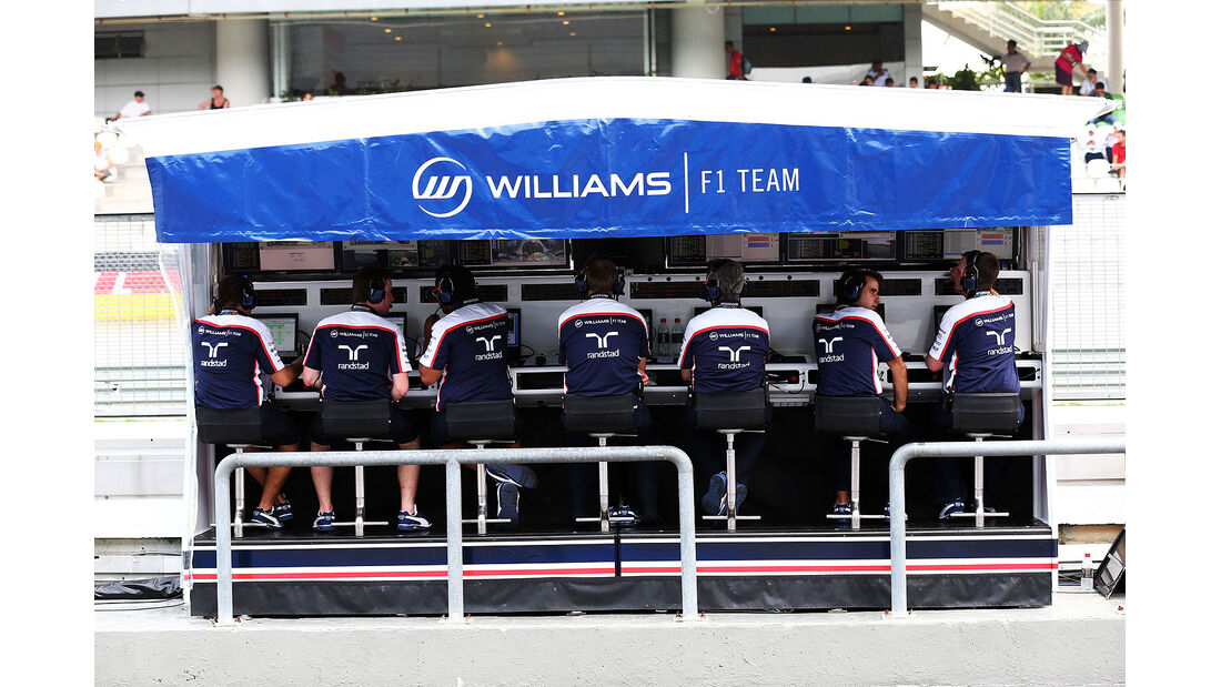 Kommandostand - Wiliams - Formel 1 - GP Malaysia - 22. März 2013