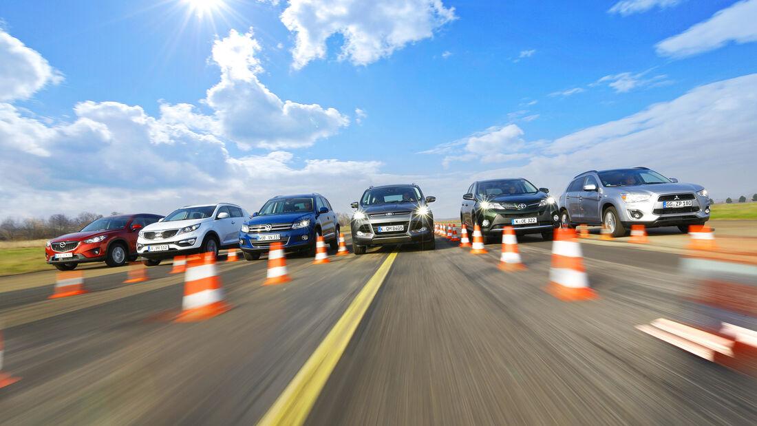 Kompakt-SUV mit Dieselmotoren, alle Fahrzeuge