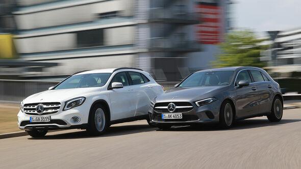 Kompakt gegen SUV, Mercedes A-Klasse, Mercedes GLA, Vergleich, ams2218