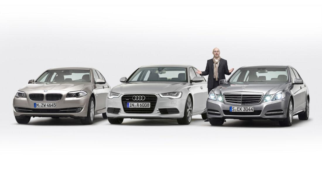 Konzeptvergleich Audi A6, BMW 5er, Mercedes E-Klasse, Ralph Alex