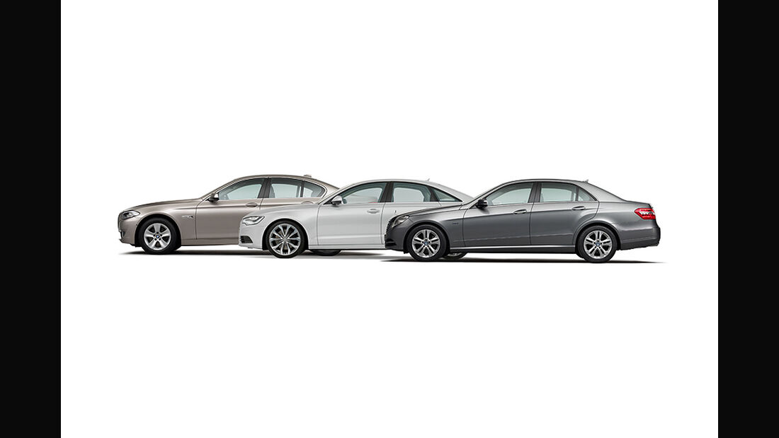 Konzeptvergleich Audi A6, BMW 5er, Mercedes E-Klasse