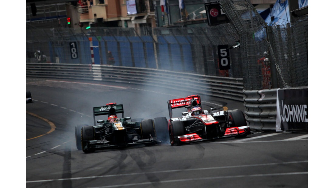 Kovalainen Button GP Monaco F1 Crashs 2012