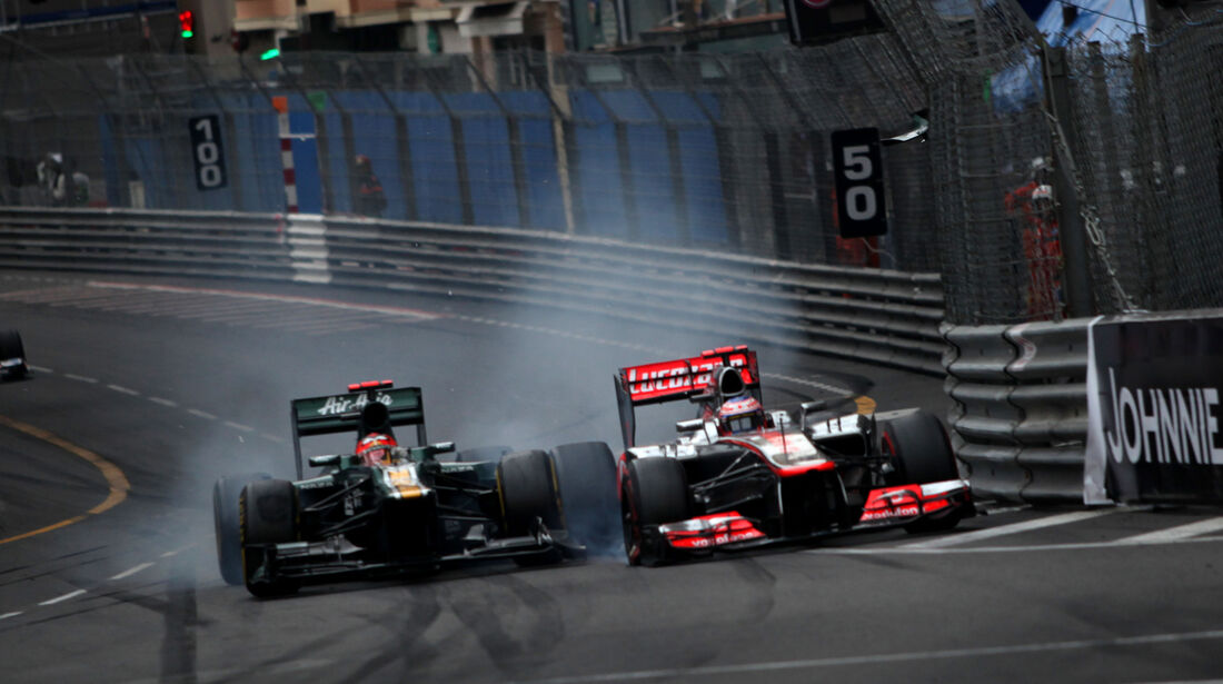 Kovalainen Button GP Monaco F1 Crashs 2012