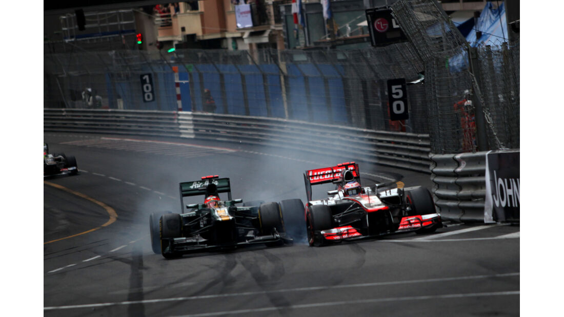 Kovalainen vs. Button - GP Monaco 2012