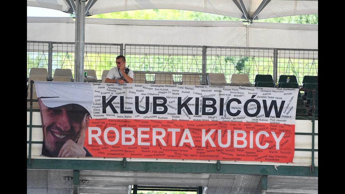 Kubica-Fans - Formel 1 - Test - Ungarn - Budapest - 1. August 2017