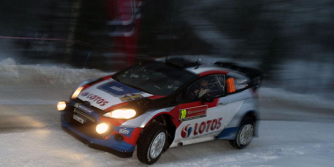 Kubica, Ford Fiesta WRC, Rallye Schweden 2014