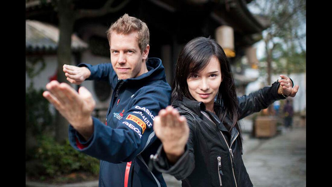 Kung Fu Sebastian Vettel GP China Shanghai 2012