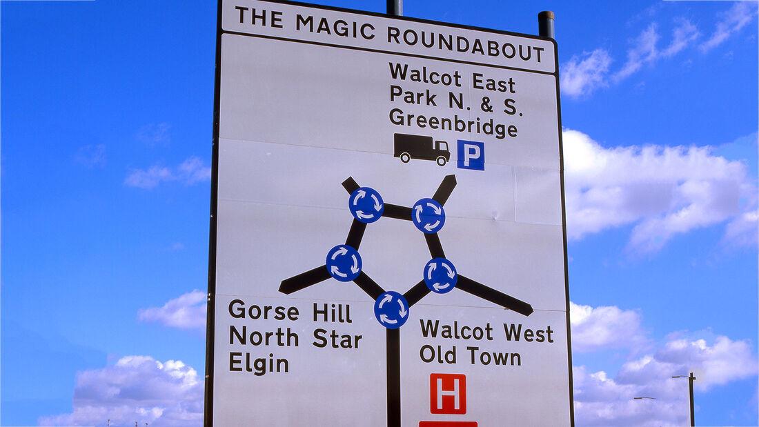 Kuriose Kreisverkehre Magic Roundabout