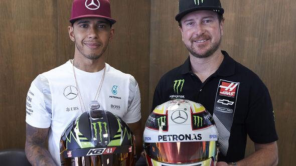 Kurt Busch & Lewis Hamilton - GP Aserbaidschan 2016