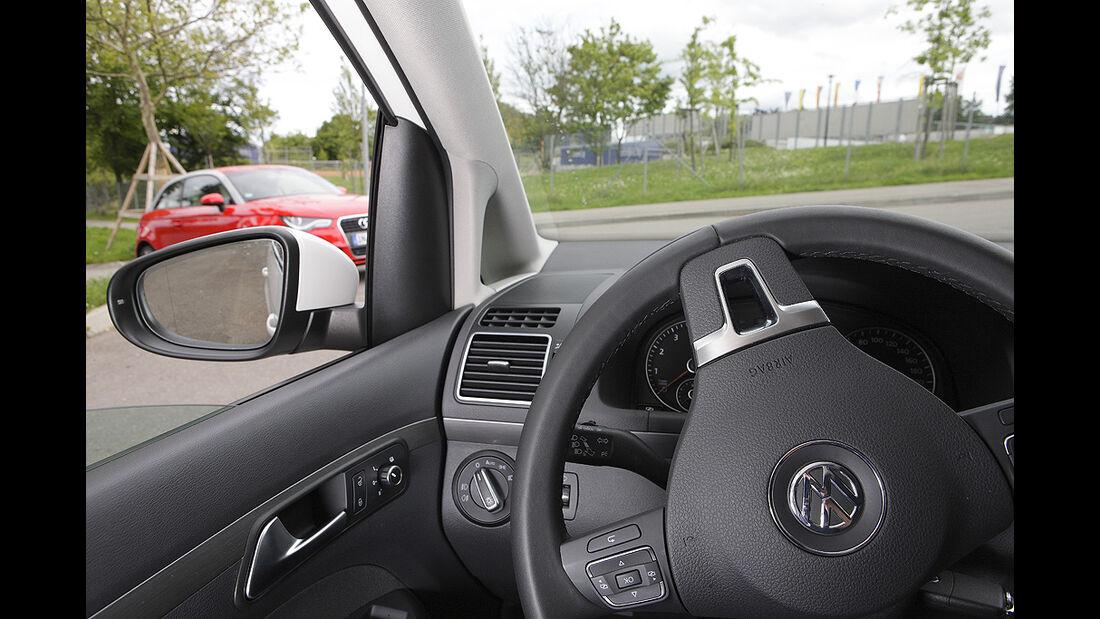 Kurvensicht, VW Touran