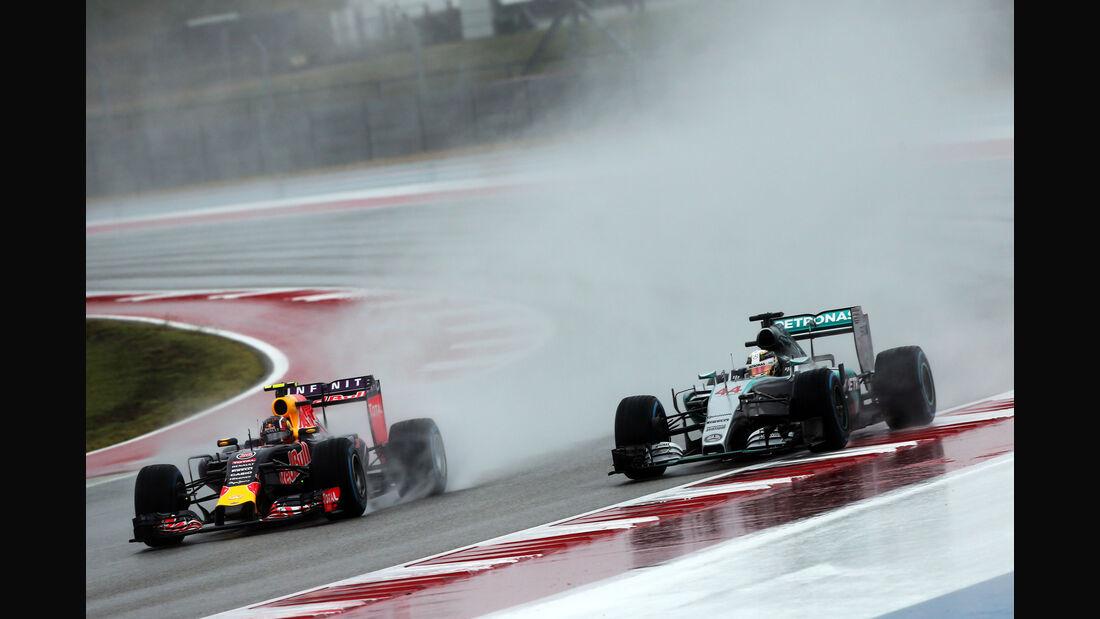 Kvyat & Hamilton - Formel 1 - GP USA - Austin - Formel 1 - 24. Oktober 2015