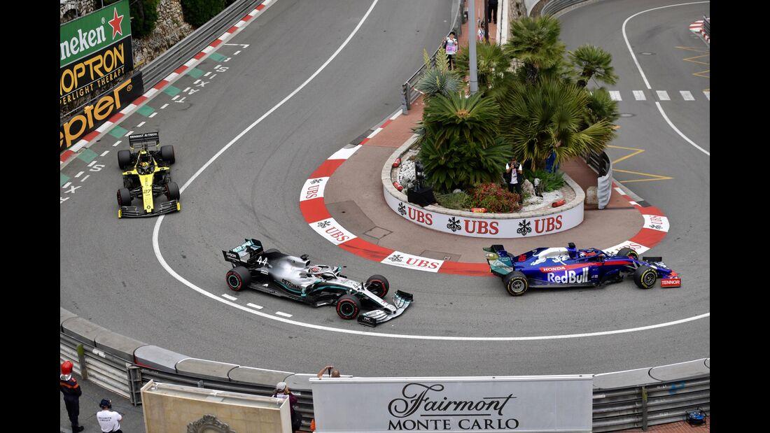 Kvyat - Hamilton - Hülkenberg - Formel 1 - GP Monaco - 23. Mai 2019