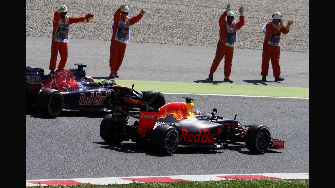 Kvyat & Verstappen - GP Spanien 2016