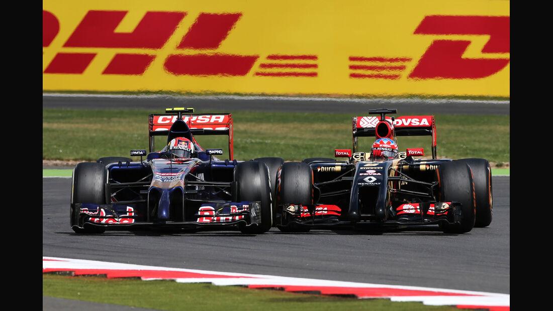 Kvyat vs. Grosjean - GP England 2014