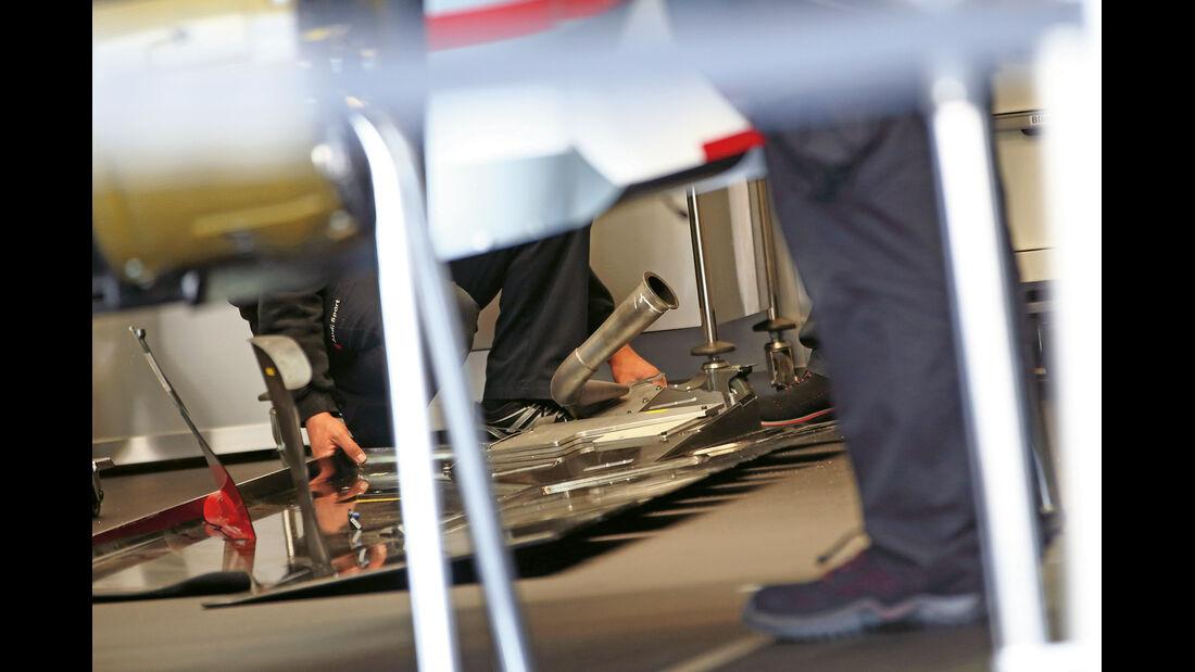 LMP1- Audi R18 e-tron Quattro, Abgasführung, Heckdiffusor