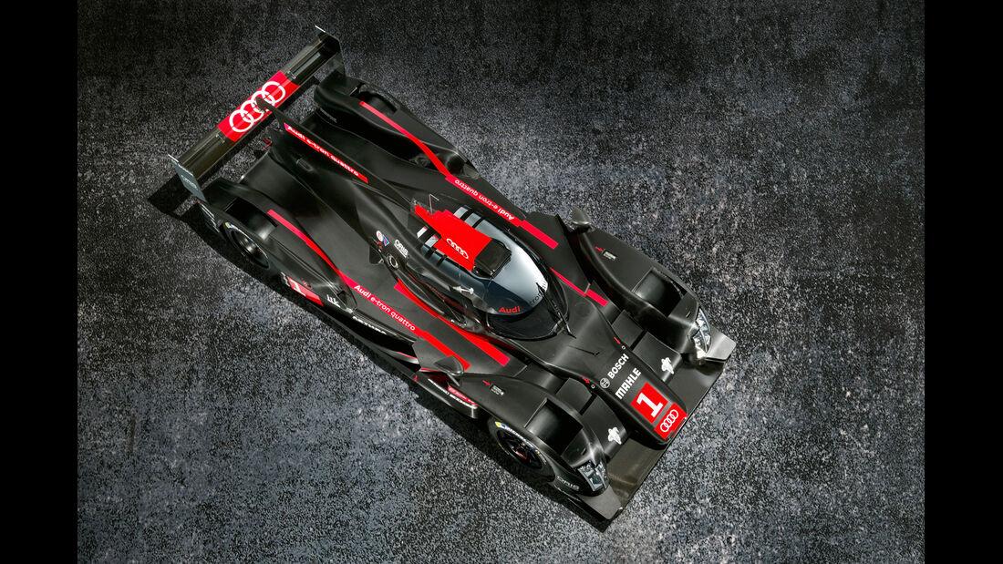 LMP1- Audi R18 e-tron Quattro, Draufsicht
