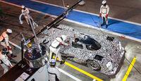 LMP1-Porsche 919 Hybrid, Boxenstopp, Draufsicht