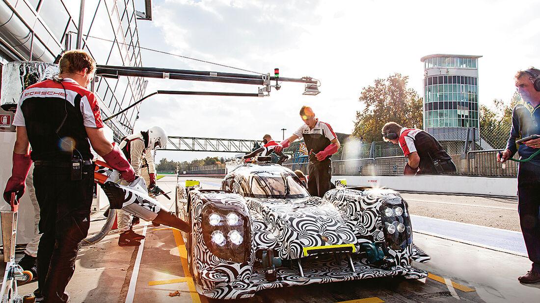 LMP1-Porsche 919 Hybrid, Boxenstopp, Tankstopp