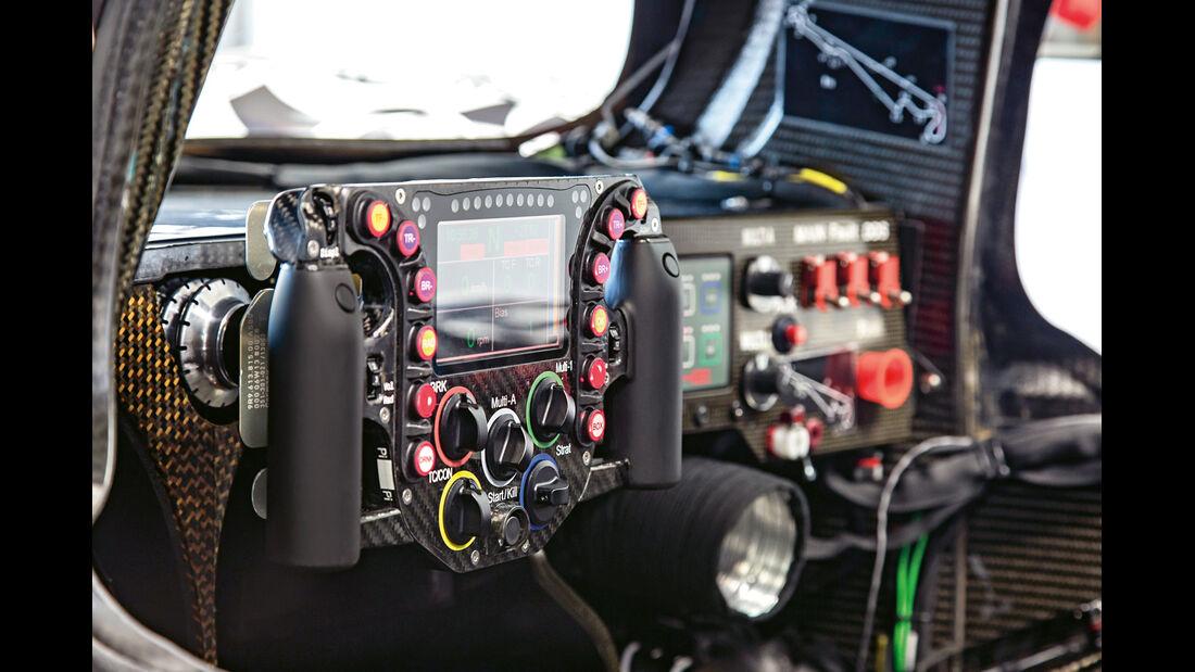 LMP1-Porsche 919 Hybrid, Cockpit, Lenkrad, Bedienelemente