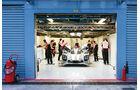 LMP1-Porsche 919 Hybrid, Testfahrt, Box, Frontansicht