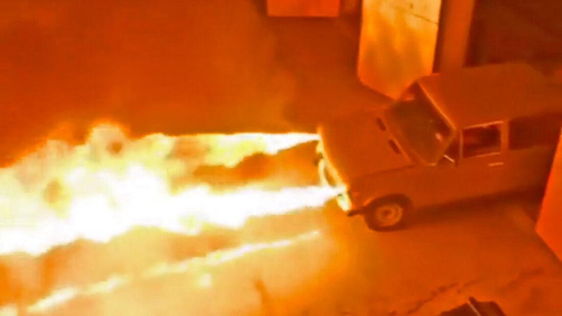 Lada 2106 Shiguli Flammenwerfer