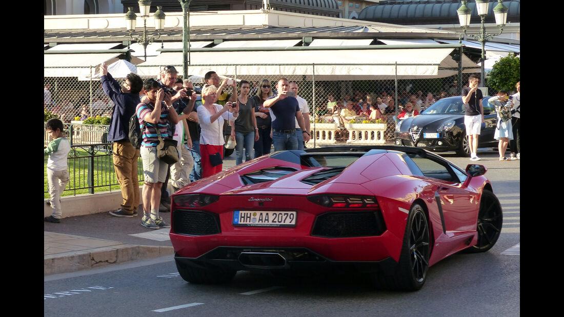 Lamborghini Aventador -  Carspotting - Formel 1 - GP Monaco 2015