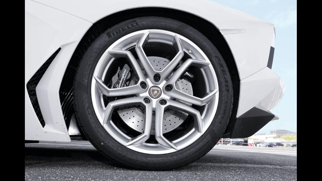 Lamborghini Aventador, Detail, 20-Zoll-Rad