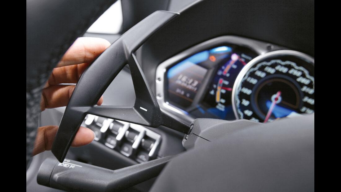 Lamborghini Aventador, Detail, Lenkrad, Bedienelemente
