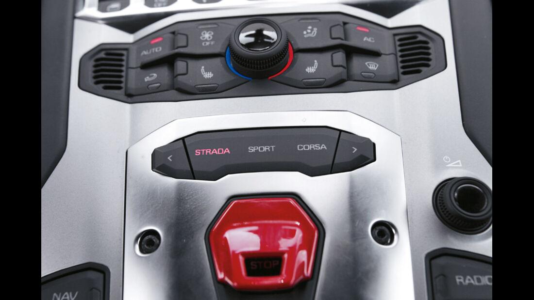 Lamborghini Aventador, Detail, Modi Strada, ESP-Set-up