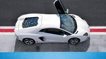 Lamborghini Aventador, Flügeltür, von oben