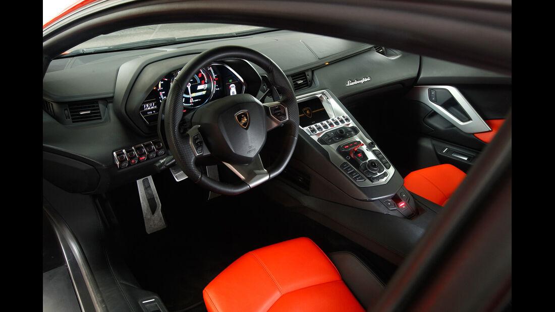 Lamborghini Aventador LP 700-4, Cockpit, Lenkrad