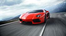 Lamborghini Aventador LP 700-4, Frontansicht, Berge