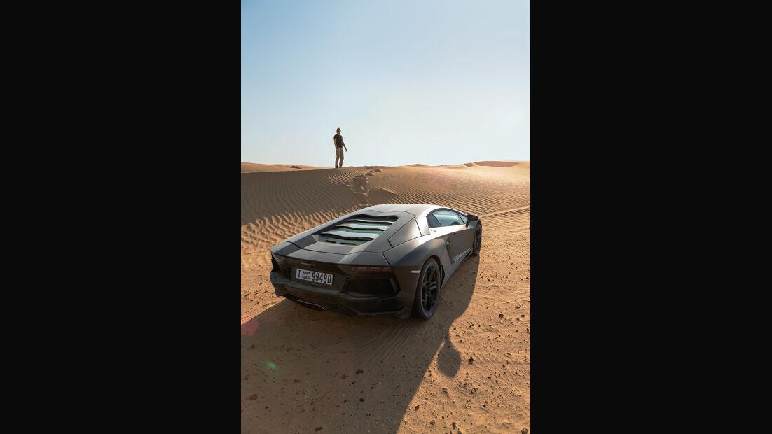 Lamborghini Aventador LP 700-4, Heckansicht