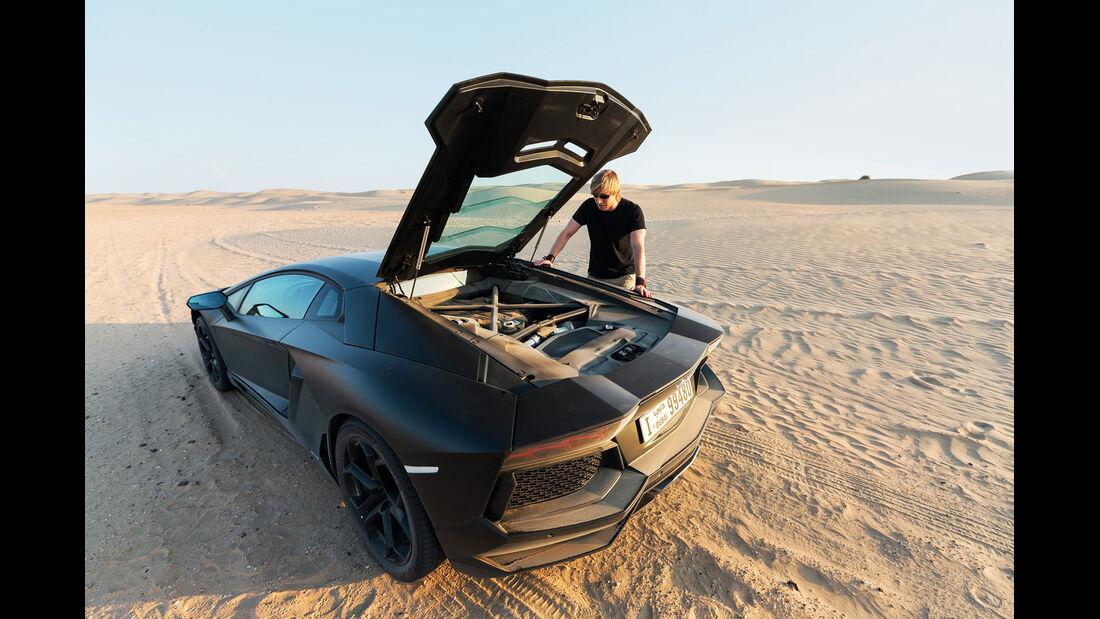 Lamborghini Aventador LP 700-4, Heckklappe