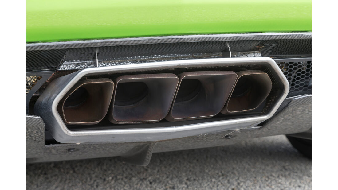 Lamborghini Aventador LP 700-4 Roadster, Endrohre, Auspuff